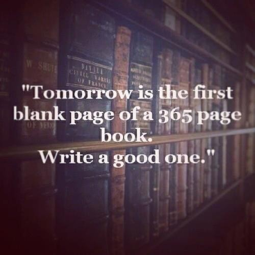 Tomorrow is the first page