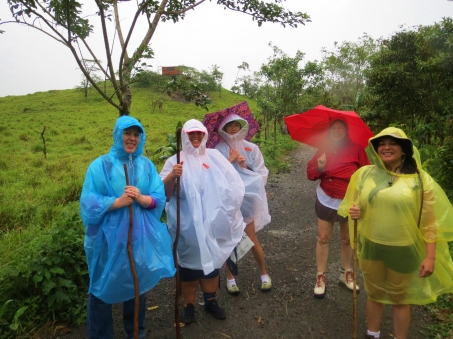 A wet walk to the volcano